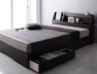 可動棚付きヘッドボード・収納ベッド 【BRUXA】ブルーシャ シングルベッド