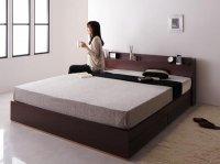 コンセント・収納クイーンサイズベッド 【Else】エルゼ コンセント付きベッド