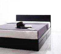 シンプルモダンデザイン・収納ベッド 【ZWART】ゼワート 組立設置サービスあり