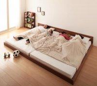 ずっと使える・将来分割出来る・シンプルデザイン大型フロアベッド 【Grati】グラティー シングルベッド