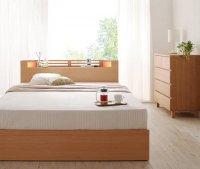 モダンライト・コンセント・収納ベッド【Aloa】アロア 収納ベッド