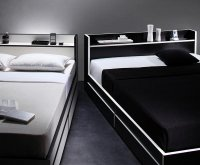 モノトーン・バイカラー・棚・コンセント・収納ベッド【Fouster】フースター 組立設置サービスあり