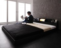 照明・棚・大型フロアベッド 【Truba】トルバ キングサイズ クイーンサイズ 大きいベッド