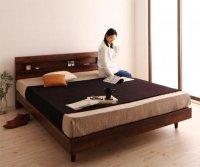 棚・コンセント・デザインすのこベッド 【Kleinod】クライノート 脚付きベッド レッグベッド