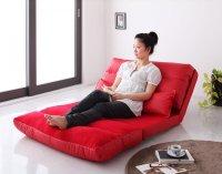 コンパクトフロアリクライニングソファベッド【Luxer】リュクサー スエードソファ
