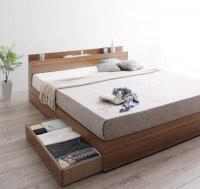 棚・コンセント・収納ベッド【Montray】モントレー 棚付きベッド