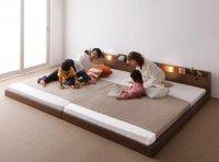 親子で寝られる棚・照明・コンセント・連結ベッド【JointJoy】ジョイント・ジョイ 連結・家族ファミリーベッド