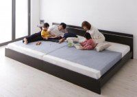 ずっと使えるロングライフデザインベッド【Vermogen】フェアメーゲン 茶色・ブラウンベッド