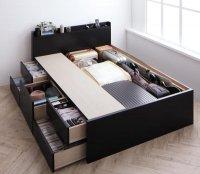 棚・コンセント・大容量チェストベッド【Armario】アーマリオ 収納ベッド