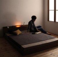 モダンライト・コンセント付きフロアベッド【Irmli】イルメリ コンセント付きベッド