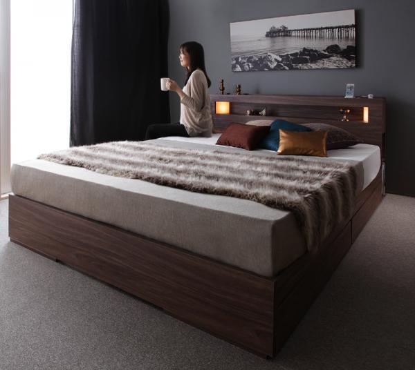 モダンライト・コンセント・収納ベッド【Dulargo】デュラルゴ