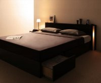 モダンデザイン・大型サイズ収納ベッド【Grandsol】グランソル 収納ベッド
