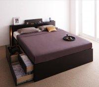 モダンデザイン・大型サイズチェストベッド【Grandluna】グランルーナ 引き出しBOX構造ベッド