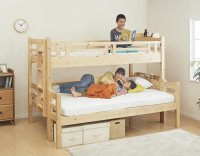 ダブルサイズになる・添い寝ができる二段ベッド【kinion】キニオン 子供用ベッド