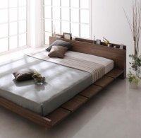 モダンデザインローベッド【FRANCLIN】フランクリン キングサイズ クイーンサイズ 大きいベッド