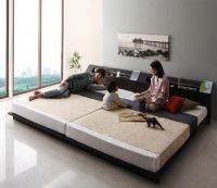 家族で一緒に過ごす・LEDライト・高級ローベッド【Yugusta】ユーガスタ 高級ベッド