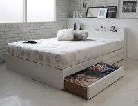 棚・コンセント・収納すのこベッド【Fort spade】フォートスペイド 収納ベッド
