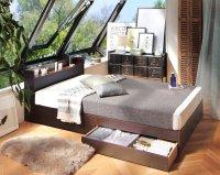 棚・コンセント・収納すのこベッド【LaBrea】ラブレア コンセント付きベッド