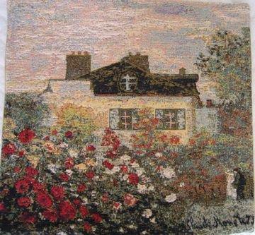 クッション 「モネ ダリアの咲く家 Large」