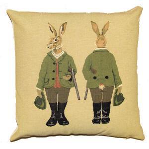 クッション 「forest friends - hares 」