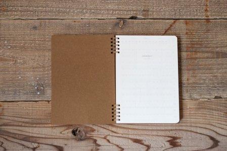 革のノート(手帳)の中紙交換