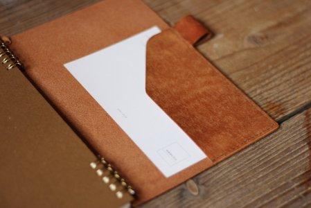 【 ノート・手帳のオプション 】革ポケット・紙封筒ポケット