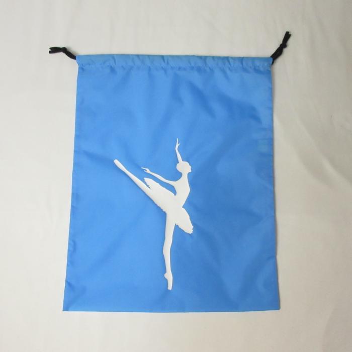 バレエシューズ巾着袋,ブルー,トーシューズ入れ,バレエ用品のネットショップ通販のお店
