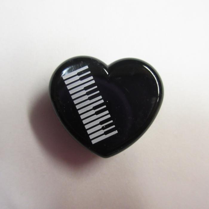 ピアノ 消しゴム ハート型消しゴム  5-B/Color 黒