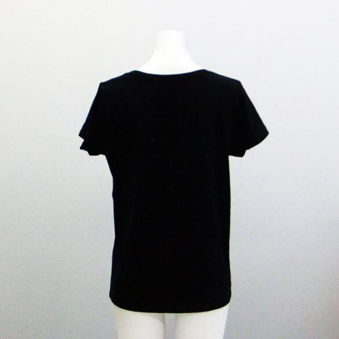 <img class='new_mark_img1' src='https://img.shop-pro.jp/img/new/icons1.gif' style='border:none;display:inline;margin:0px;padding:0px;width:auto;' />バレエTシャツ バレリーナ黒,バレエトップス,バレエtシャツ,ウォームアップウエア バレエ用品