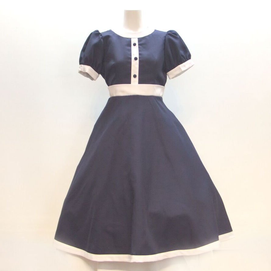 ドレス【レンタル】紺,ピアノ発表会,結婚式,パーティーワンピース