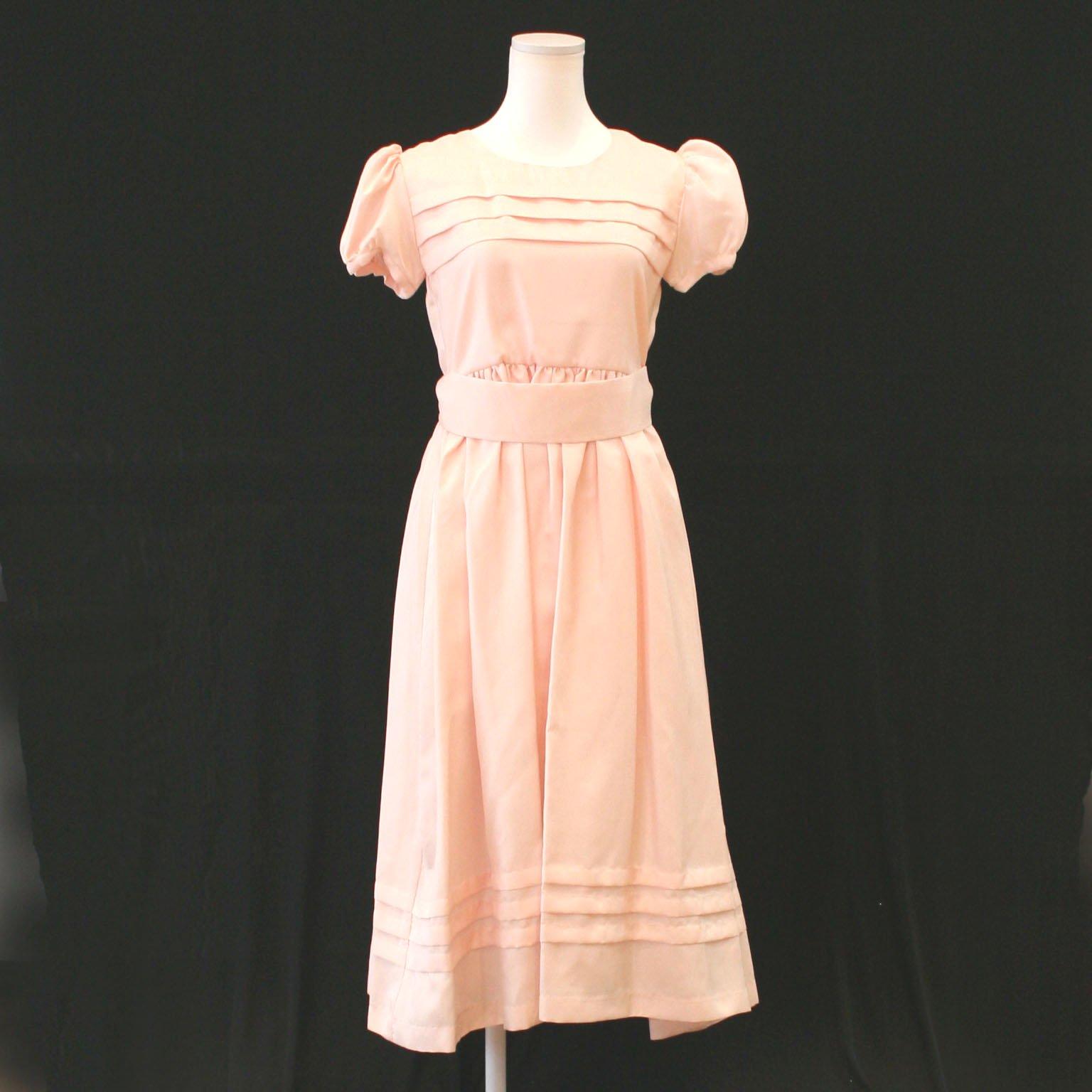 ドレス【レンタル】桜ピンク,ピアノ発表会,結婚式,パーティーワンピース