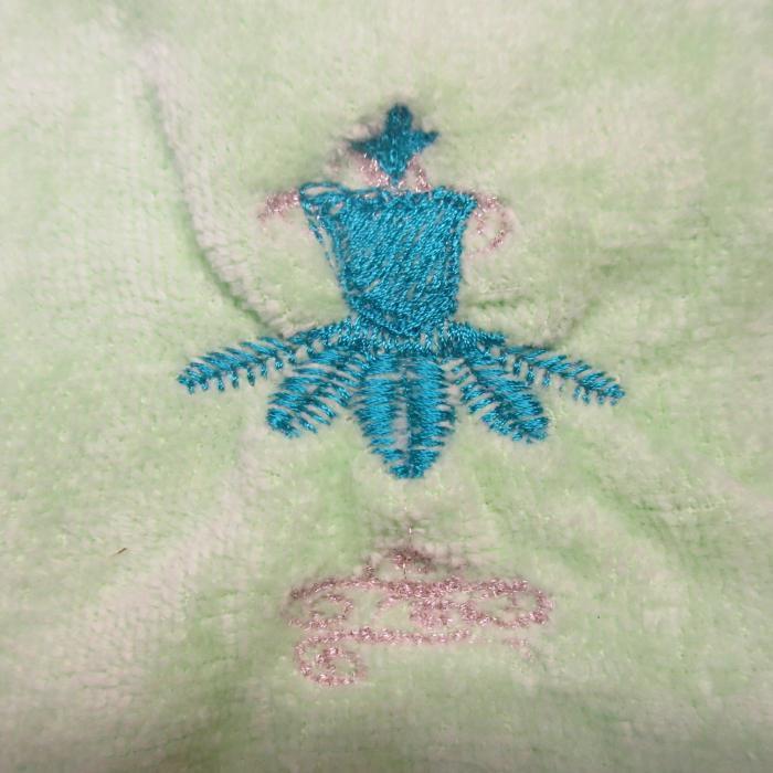 眠れる森の美女 フロリナ王女 ミニタオル 白,バレエ演目タオル62,オリジナル刺繍,バレエ発表会プレゼント