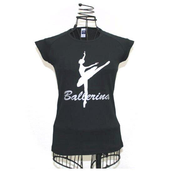 バレエTシャツ バレリーナブラック♪