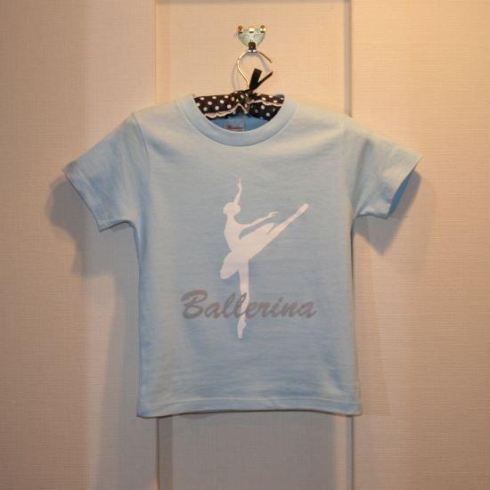 バレエTシャツ バレリーナライトブルー