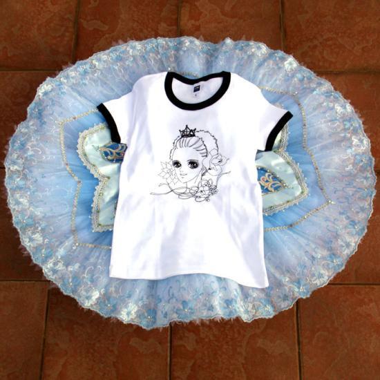 バレエTシャツ,美少女タカコホワイトA,バレエトップス,バレエtシャツ,ウォームアップウエア,バレエ用品