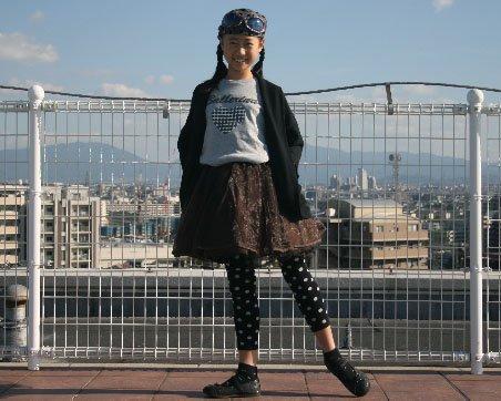 バレエ【Tシャツ】ハートドットグレーA