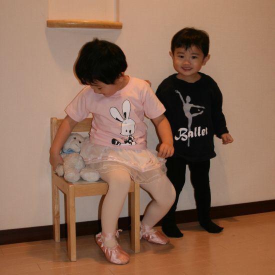 ★バレエ【T-シャツ】レッスンロングネイビーJ