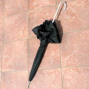 セレブ傘【アンブレラ】ブラック傘フリルがフリフリ001kasa