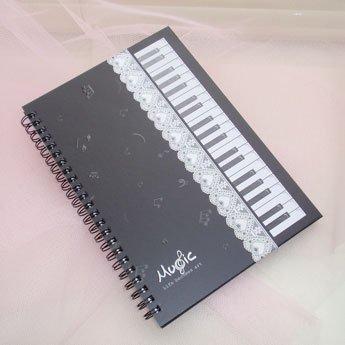 音楽【文具】ノート  (ピアノ.音符.バイオリン.プレゼント.ギフト)