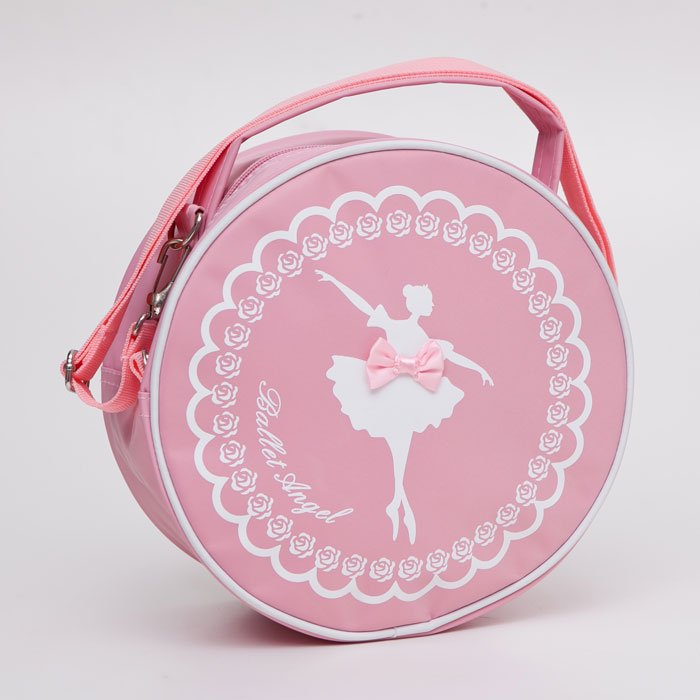 バレエ用品 子ども レッスンバッグ 丸型ピンクバック,子供用かばん,バレエ用品