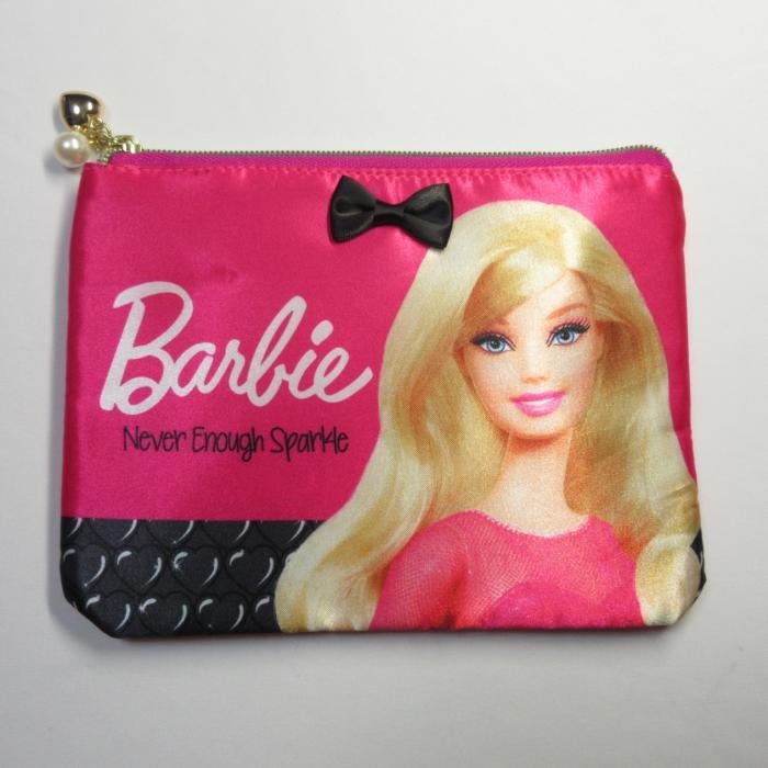バービーグッズ Barbie フラットポーチ フューシャピンク 化粧ポーチ