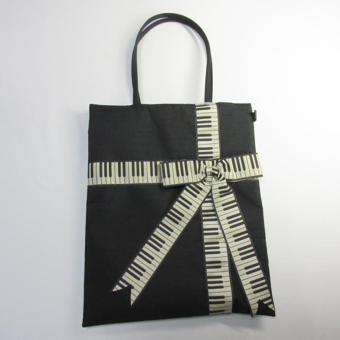 ピアノリボン レッスントート,ピアノバッグ,お稽古バック,マザーバッグ,音楽,レッスンバック,かばん