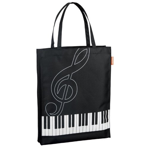 ピアノ レッスンバック,縦型トート,横鍵盤ト音記号,お稽古バック,音楽,子供用かばん