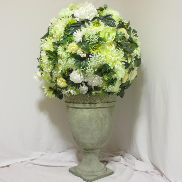フラワーコーディネート,W75×D75×H125(cm),お花,ホテル ロビー,お祝い,劇場