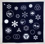 雪の紋章シリーズ 風呂敷〜雪づくし【紺】