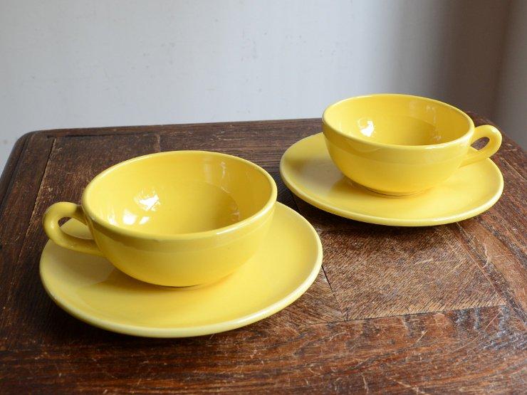 [new] アンティーク フランス陶器 カップ&ソーサ set