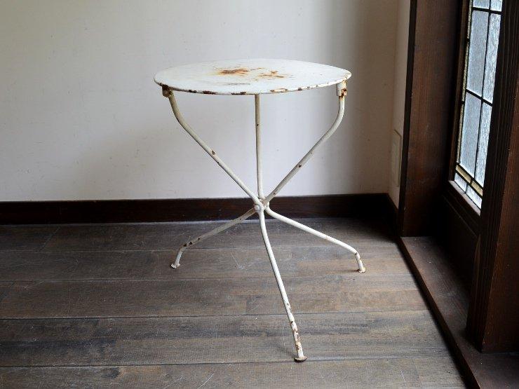 ヴィンテージ アイアン 丸テーブル