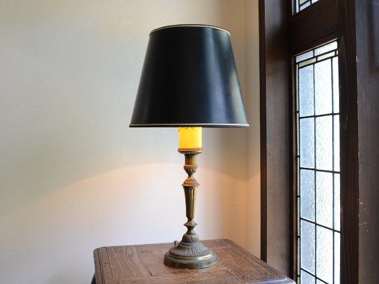 ブラックシェード付 テーブルランプ(H58cm)