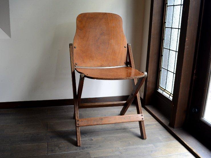ヴィンテージ木製フォールディングチェアA