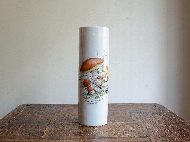 BAVARIA キノコ柄 陶器フラワーベース B
